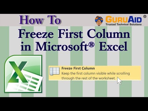 How to Freeze First Column in Microsoft® Excel - GuruAid