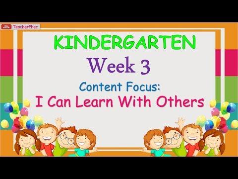 KINDERGARTEN WEEK 3 MESSAGES