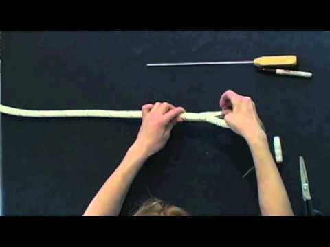 Part 2 How to Make Horse Lead Rope or Marine Spliced Loop - Class 1 Double Braid Eye Splice