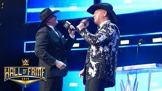 """Jeff Jarrett & Road Dogg sing """"With My Baby Tonight"""": WWE Hall of Fame 2018 (WWE Network Exclusive)"""