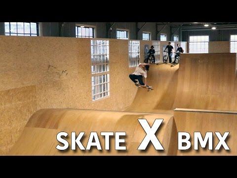 SKATER DESTROYS BMX TRACK!