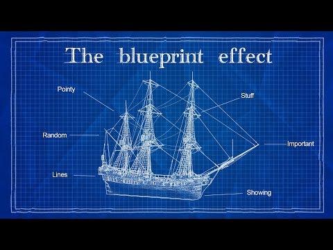 Blueprint Effect | Photoshop Tutorial