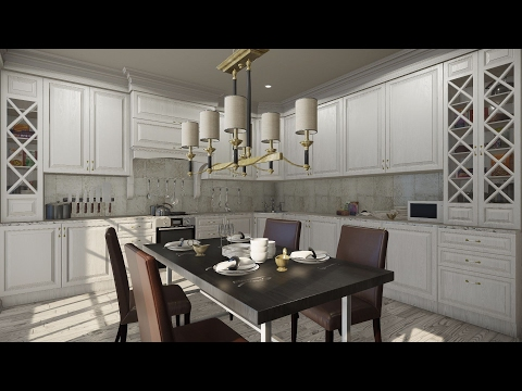 Cryengine assets - Classical Kitchen By 3dboos