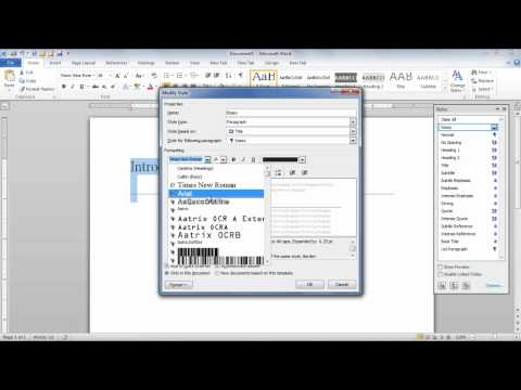 How to do edit and delete styles in Microsoft Word 2010