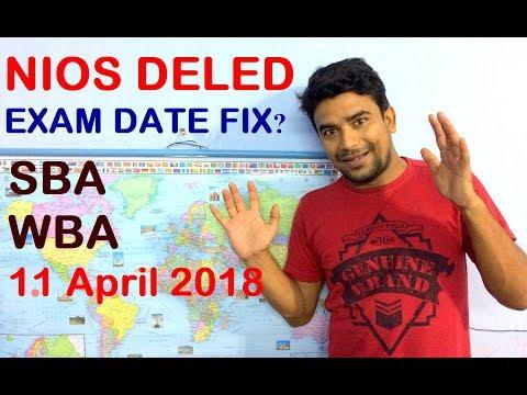 NIOS D.EL.ED Exam Date Live update, SBA, WBA, question Answer   Online Partner