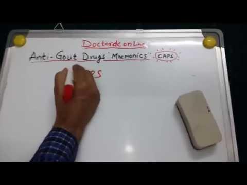 Anti-Gout Drugs Mnemonics