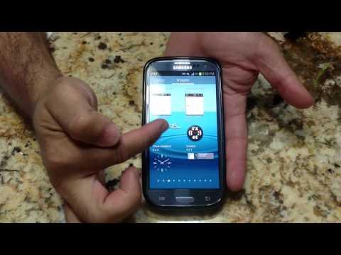 Samsung Galaxy S III Tips - How to turn you the flash light widget (Tip 13)