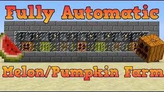 Bedrockin' Minecraft: Pumpkin and Melon Farm, super easy and