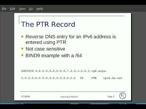 The IPv6 PTR Record