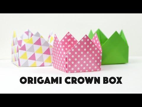 Origami Crown Box Tutorial ♥︎ DIY ♥︎ Pretty Gift Box ♥︎