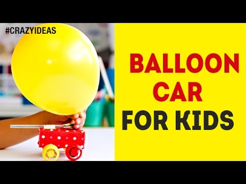 How to Make Balloon Car for Kids | DIY | Simple and Easy Experiments | Science Project | Crazy Ideas
