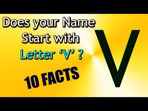 10 Facts about the People whose name starts with Letter 'V' | Personality Traits