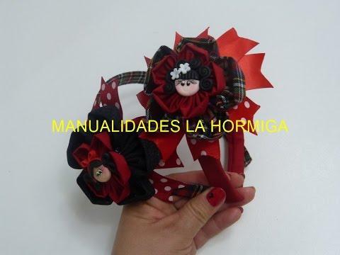 Diy Diademas Moños escolar, headband for school, How To Make a Hair Bow