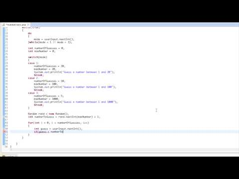 Java Made Easy Tutorial 15 - Guessing Game
