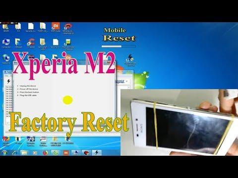 Factory Reset Sony M2 bypass screen lock code.