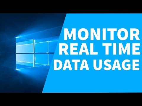 How To Monitor Real Time Data Usage In Windows / Real Time Data Usage Monitor