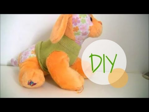 DIY: How to make Webkinz clothes using socks (easy)