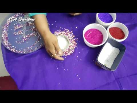 DIY CD craft idea for beads Tea Coasters