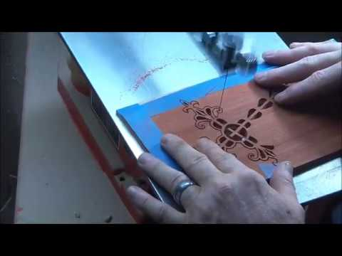Scroll sawing wedding cake toppers