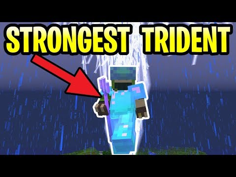 Minecraft Update Aquatic STRONGEST TRIDENT! Tutorial PE, Xbox, PS4 & Switch