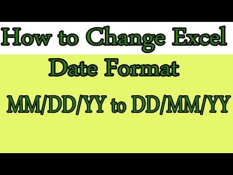 How to Change Date Format in Excel MM-DD-YY to DD-MM-YY