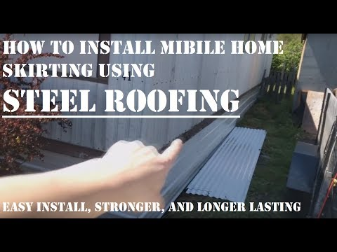 🏡How to Install Mobile Home Skirting Using Steel Roofing