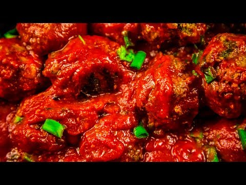 Mozzarella Stuffed Slow Cooker Meatballs