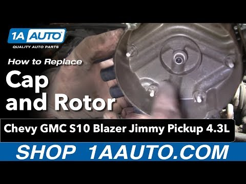 How To Install Replace Cap and Rotor Chevy GMC S10 Blazer Jimmy Pickup 4.3L 1AAuto.com