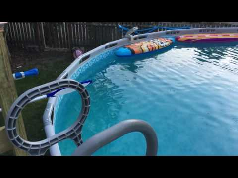 I built a 6x6 deck for my 22 foot above ground pool.