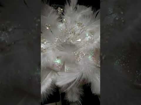 Feather bridal bouquet