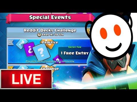 REDDIT Decks Challenge!! GIVE ME YOUR BEST 9 WIN TIPS?!!   Clash Royale
