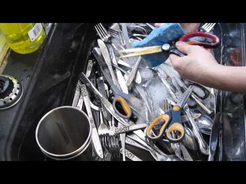 QUICK EASY FAST how to Wash Dishes Tips - Utensils - Fork Knife Spoon Etc...
