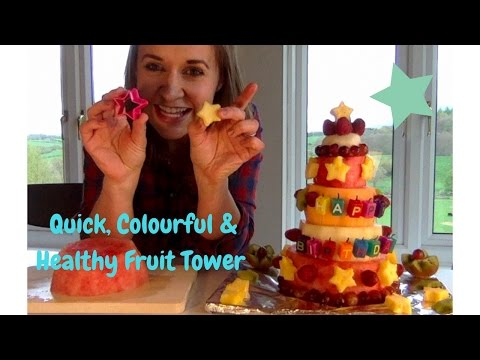 Quick, Easy, Colourful & 100% Fruit Birthday Tower 🍉🥝🍍🍒🎉