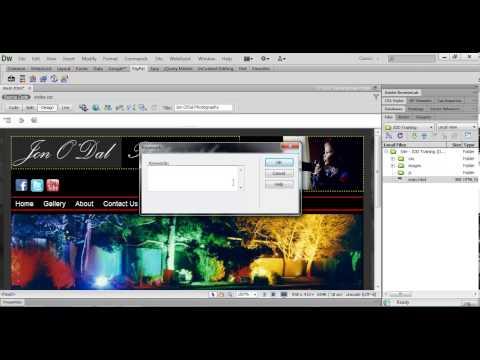 26 Adding Meta Tags Dreamweaver Web Design Project 1