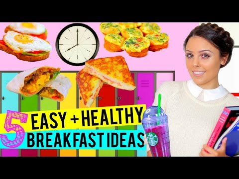 BACK TO SCHOOL: 5 Easy + Healthy Breakfast Ideas for School! | Kristi-Anne Beil