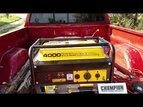 Champion 3500 watt Generator review.  Affordable emergency power!!