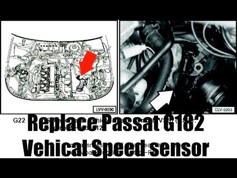 How to: Replace Volkswagen Passat 1.8t G182 sensor/Vehical speed sensor