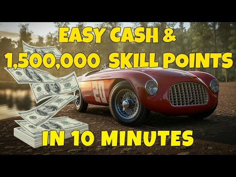 Forza Horizon 3 - Earn Easy Money, XP and Skill Points In 10 Minutes