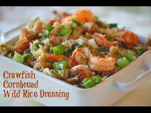 Amazing Crawfish Cornbread Wild Rice Dressing Recipe for Thanksgiving