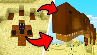How To Spawn a MEGA T-REX in Minecraft Pocket Edition! (Dinosaur/Jurassic Craft Addon)