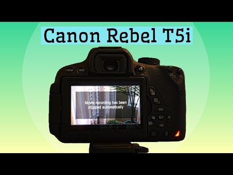 Canon Rebel T5i - Movie Recording has been Stopped Automatically Error Message