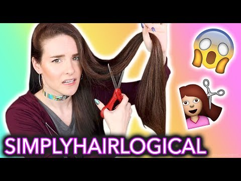 Cutting my hair and making it HOLO | ft. Simplyhairlogical