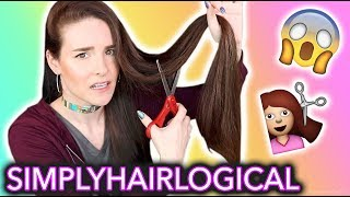 cutting my hair and making it holo ft simplyhairlogical