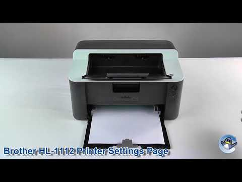 How to print a Printer Settings Page On A Brother HL-1112