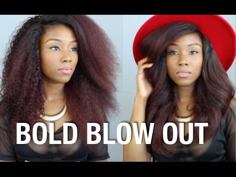 BIG WAVEY BLOW OUT | HOW TO BLOW DRY CURLY HAIR
