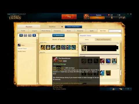 League of Legends. Yasuo build. Patch 5.7  - Azunan