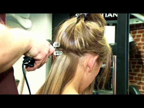 Apply Pre bonded Glue in hair extensions