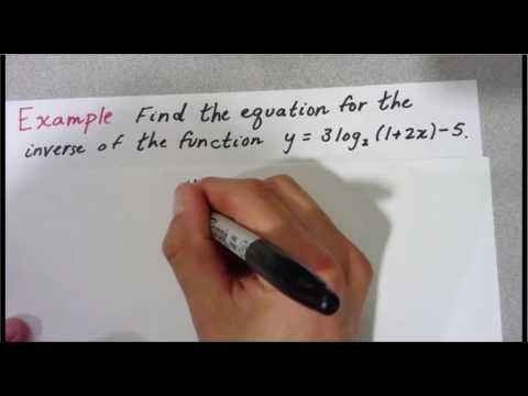How to Find the Inverse of a Logarithmic Function