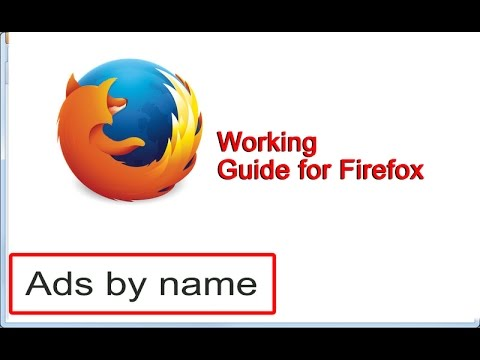 How to remove [Ads By Name] from Firefox