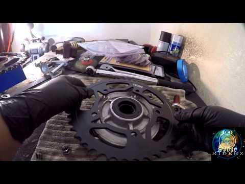 New Vortex Sprocket Install part1 Suzuki GSXR 600 project update